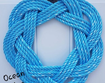 """Handwoven Turks Knot Wreath - Assorted Colours - 7 byte Appx 15"""""""