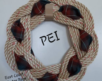 Handwoven Turks Knot Wreath -  PEI - 7 Byte