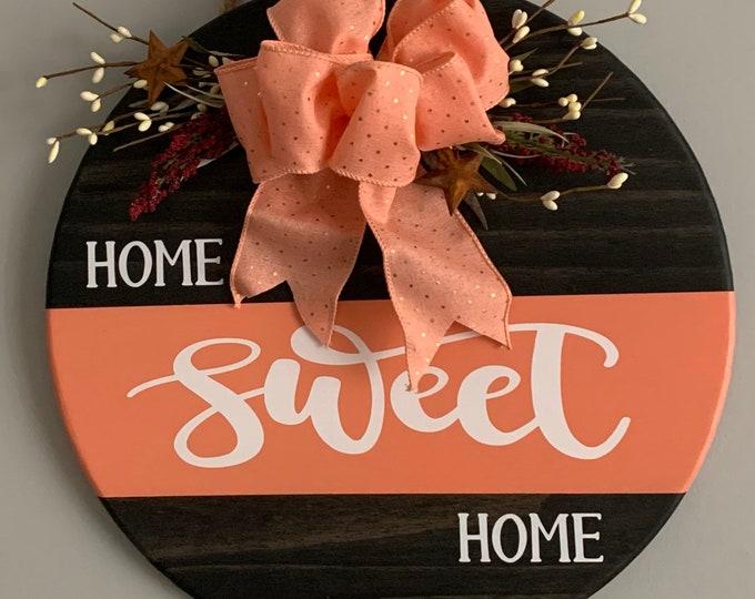 Wooden Door /Wall Hanger-Home Sweet Home