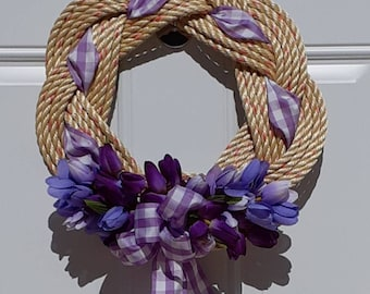 Spring Wreath with Tulips