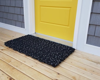 Handwoven Rope Mat - Black