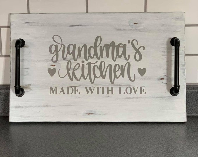Wooden Tray - Grandma