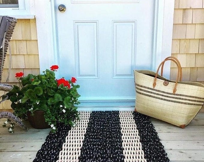 Large Hand Woven Rope Runner Asst Colors