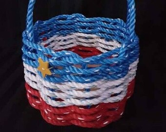 Small Oval Rope Basket