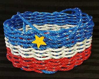 Large Hand Woven Rope Market Basket