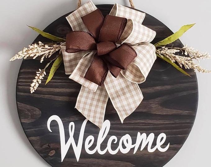Wooden Door / Wall Hanger -Welcome