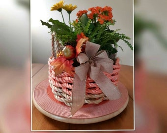 Handwoven Rope Garden Basket (Basket Only)