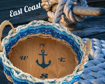 Handwoven Rope Tray- Nautical Decor