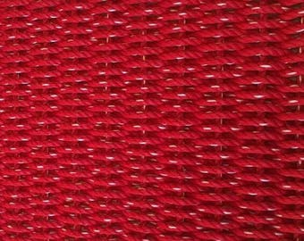 Hand Woven Rope Mat Red