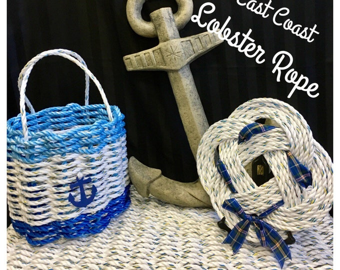 Handwoven Rope Mat - White