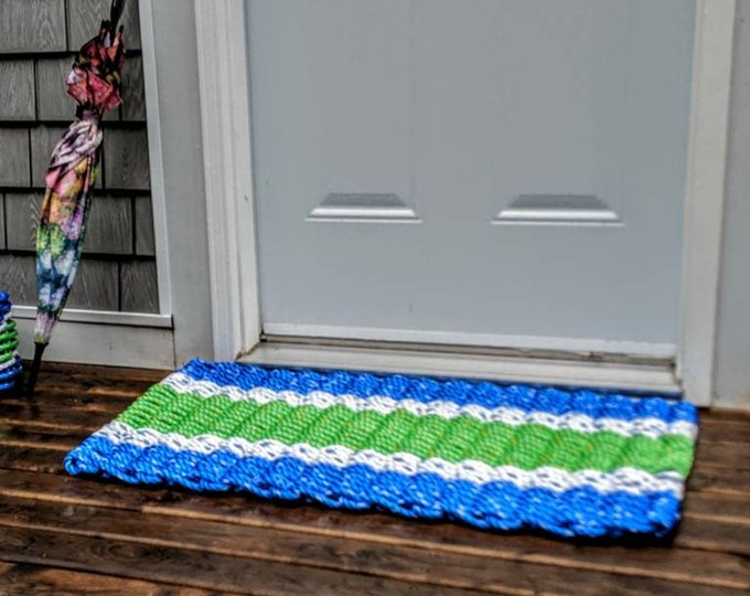 Handwoven Rope Door Mat.