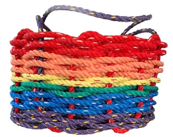 Hand Woven  - Oval Market Basket - Over the Rainbow
