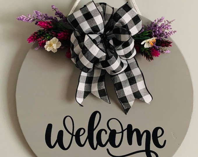 Wooden Door / Wall Hanger -Welcome