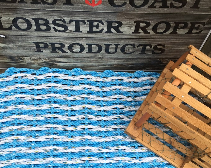 Handwoven Striped Rope Mat