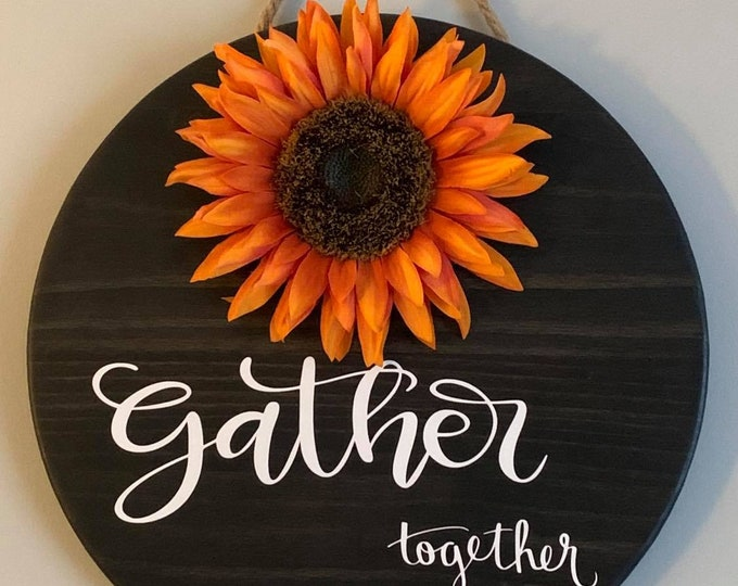 Wooden Door /Wall Hanger-Gather