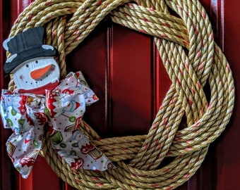 Turks Knot Wreath with Snowman