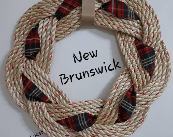 Handwoven Turks Knot Wreath - New Brunswick Tartan - 7 Byte