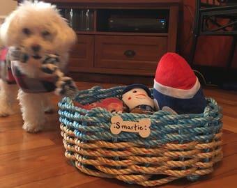 Personalized Dog Toy Basket