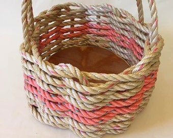Small Hand Woven Rope Basket Natural / Croal
