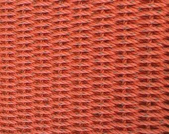 Hand Woven Rope Mat Coral