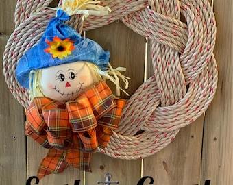 Large Handwoven Wreath - Scarecrow