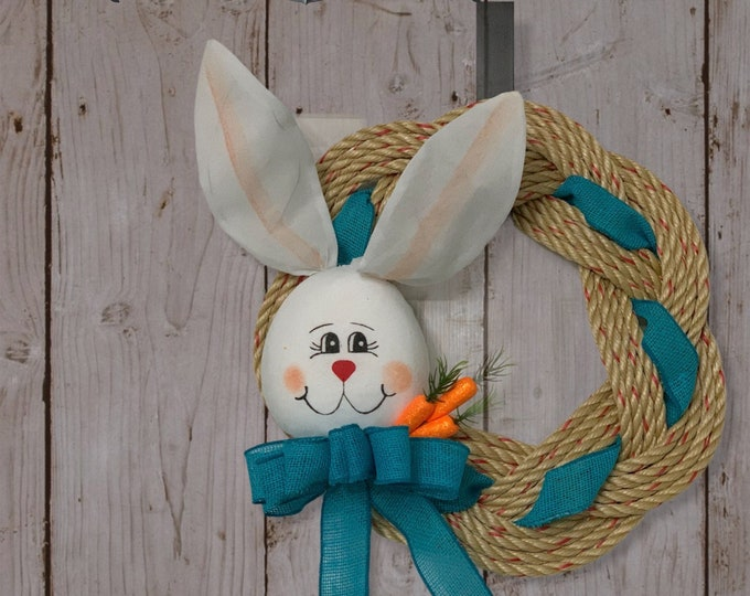 Handwoven Turks Knot Wreath - Bunny