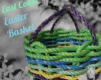 Handwoven Colorful Rope Spring / Easter Basket