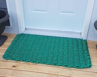 Handwoven Rope Mat - Green
