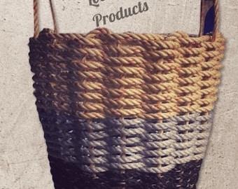 Handwoven Rope Basket- Large Custom