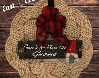 Handwoven Wreath- No Place Like Gnome