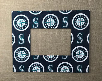 Sports Fan Photo Mat Made With Seattle Mariners Fabric