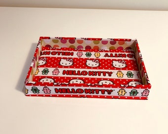 Catchall Tray (Rectangle) Made With Hello Kitty Fabric
