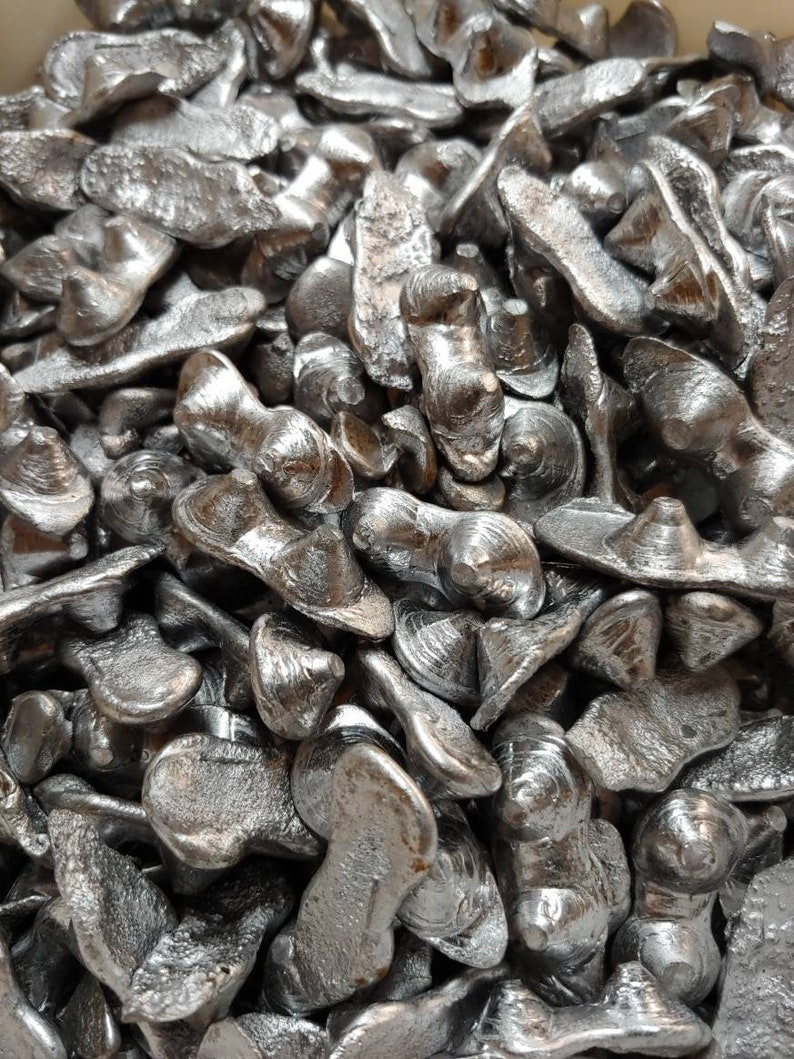 Bullet Lead 10 lbs, Spent Lead for Molds, Melting, Casting Smelting,  Recycled Range Lead, Projectiles, Sinkers, Ingots, DIY Fishing Weights
