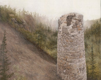 """Print of """"Steam Shaft Stack No. 4"""" by Joshua Moore"""