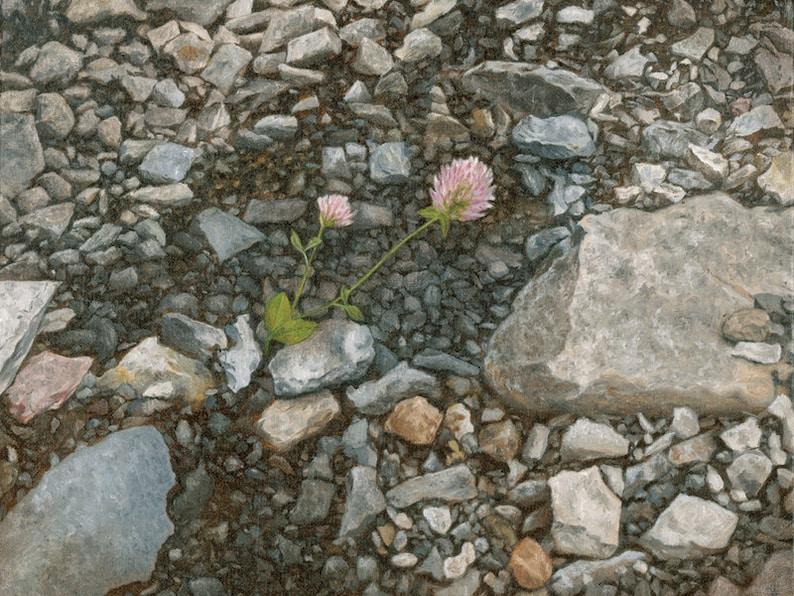 Print of Flower in Slag by Joshua Moore image 0