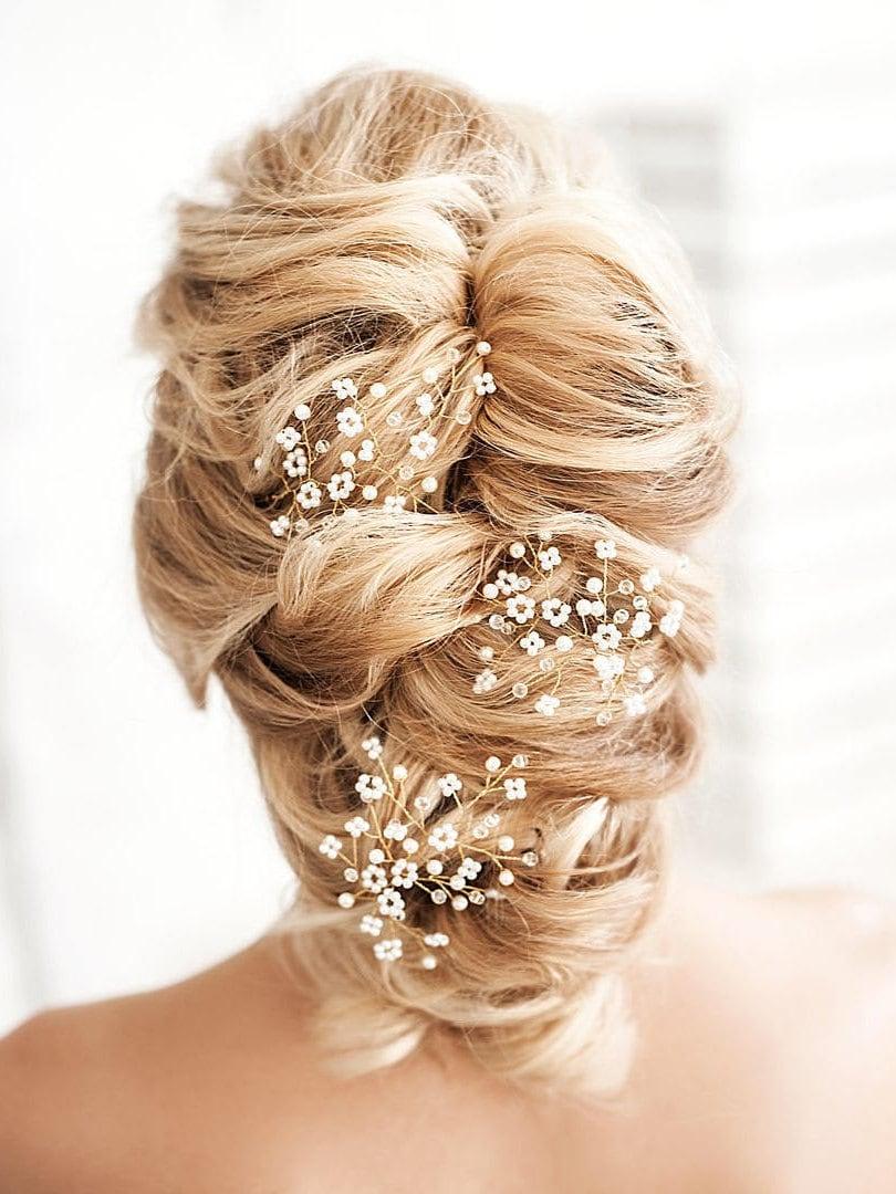 Bridal Hair Piece Babys Breath Headpiece Gypsophila Hair