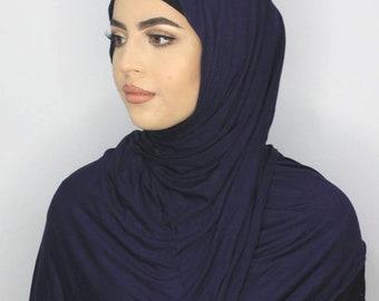 345657fb8 Premium Cotton Jersey Basic Plain Hijab Scarf Shawl 60 x 180cm