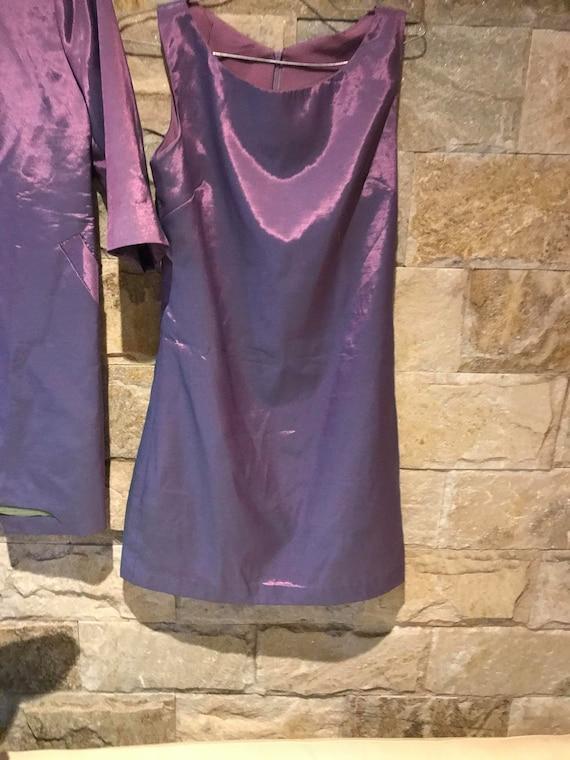 1960's Vintage Metallic Purple 2 Piece Set/ Power… - image 10
