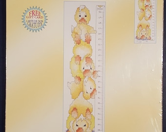 Janlynn Baby Ducky Growth Chart Counted Cross Stitch Kit