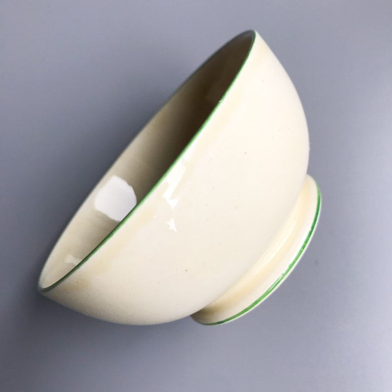 1930/'s Art Nouveau Wedding Day Bride Gift Vintage Kitchenware 1 or 2 Royal Winton Grimwades Pastel Ware Open Sugar Bowl with Green Trim