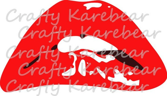Rocky Horror Picture Show Lips Svg File Etsy