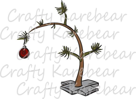 Charlie Brown Christmas Tree Silhouette.Charlie Brown Christmas Tree Svg And Dxf Digital File Download