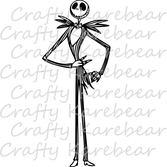 Jack Skellington Full Body SVG and DXF Digital File Download | Etsy