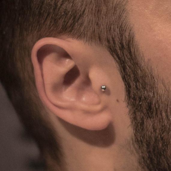 18k Gold Tragus Earring Ball Tragus Cartilage Earring Helix Etsy