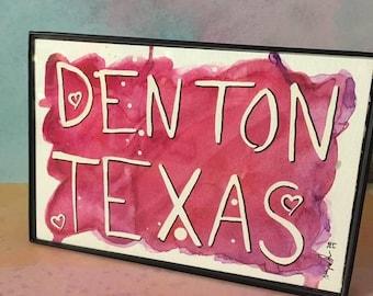 Pink Red Purple Watercolor Splash Denton TX Painting