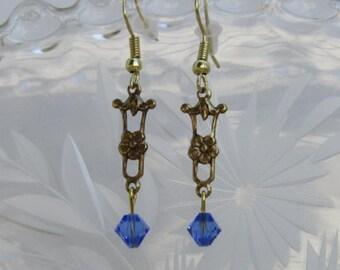 Rose Hanger with Light Sapphire Swarovski Crystal