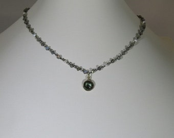 Labradorite and pearls