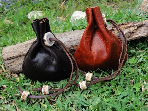 Medieval leather bag, medieval bag, Judas bag, role playing
