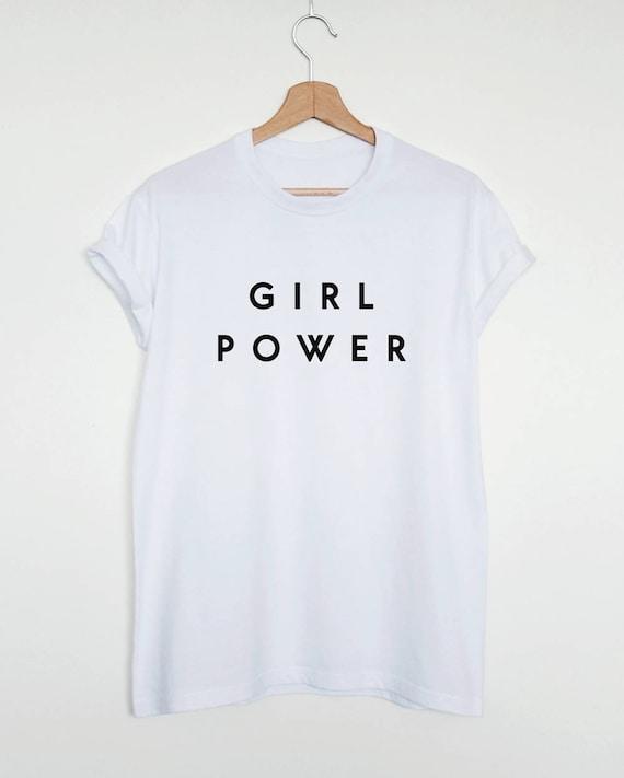 Girl Power T Shirt Feminist Shirt Grl Pwr Womens Or Unisex Etsy