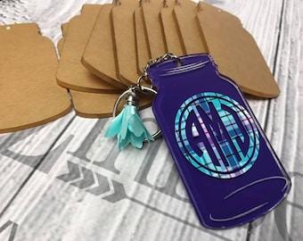 Mason Jar Acrylic KeyChain Blanks SET OF 10 , CLEAR Acrylic blanks, Acrylics for vinyl, Keychains for vinyl, Vinyl Blanks, Blanks for vinyl
